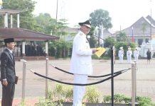 Gubernur Banten Wahidin Halim Pimpin Apel HUT Bhayangkara ke 71 (Photo : Humas Pemprov Banten)