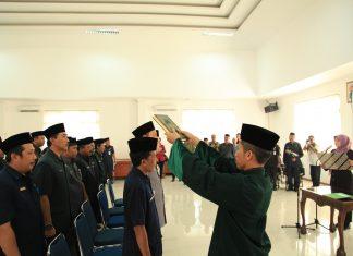 DOKUMENTASI Pelantikan 24 orang pejabat esselon III dilingkup Pemerintah Daerah Kabupaten Pandeglang, Jum'at (7/7/2017) lalu.( Photo : Dendi )